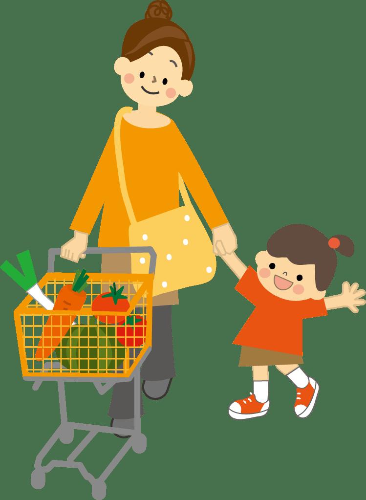 子供と一緒に買い物